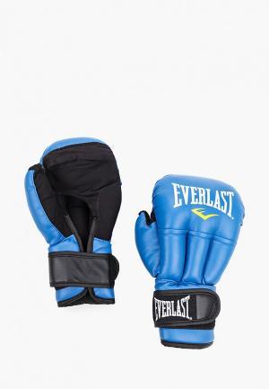 Перчатки боксерские Everlast HSIF PU. Цвет: голубой