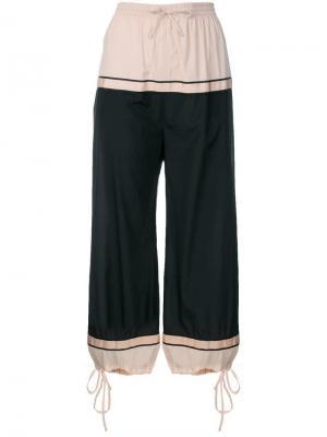 Укороченные брюки-шаровары Jean Paul Gaultier Vintage. Цвет: фиолетовый