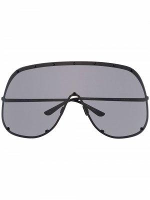 Солнцезащитные очки-авиаторы Rick Owens. Цвет: черный