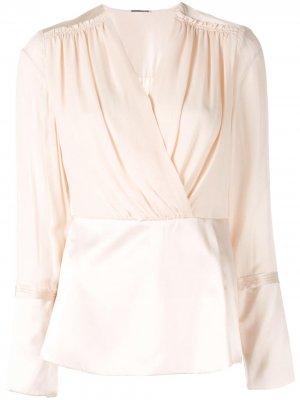 Блузка с запахом Elie Tahari. Цвет: розовый