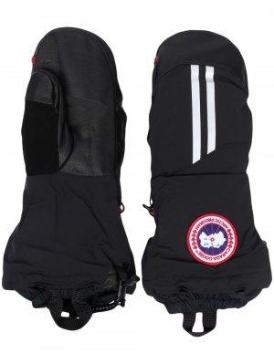 Перчатки с нашивкой-логотипом Canada Goose. Цвет: черный