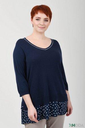 Пуловер Samoon. Цвет: синий