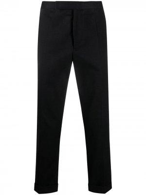 Укороченные брюки строгого кроя Haider Ackermann. Цвет: черный