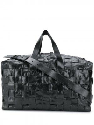 Плетеная дорожная сумка Bottega Veneta. Цвет: черный