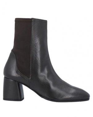 Полусапоги и высокие ботинки LORENZO MASIERO. Цвет: темно-коричневый