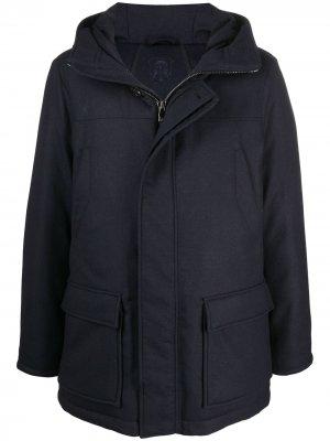 Утепленное пальто Corneliani. Цвет: синий