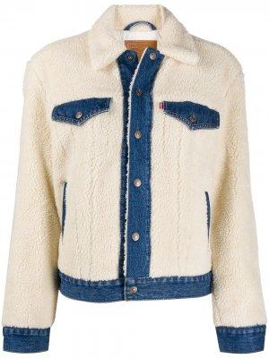 Levis джинсовая куртка из шерпы Levi's. Цвет: белый