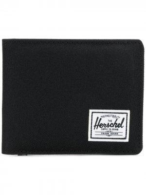 Кошелек с заплаткой логотипом Herschel Supply Co.. Цвет: черный