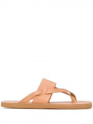 Сандалии с перекрестными ремешками Ancient Greek Sandals. Цвет: нейтральные цвета