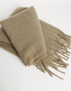 Серый фактурный шарф-одеяло ASOS DESIGN