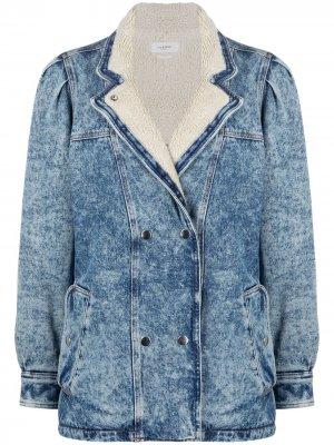 Двубортная джинсовая куртка Isabel Marant Étoile. Цвет: синий