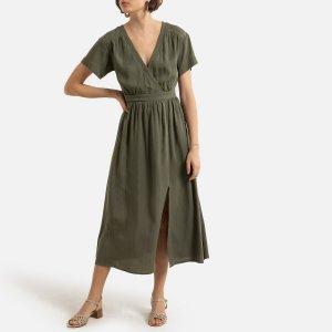 Платье-миди LaRedoute. Цвет: зеленый