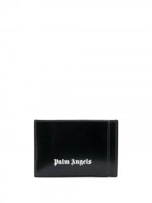PALM ANGELS CARDHOLDER BLACK WHITE. Цвет: черный