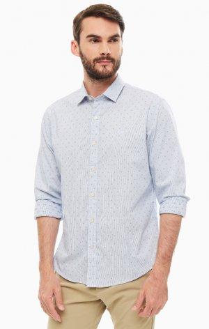 Рубашка DOCKERS. Цвет: полоска, синий