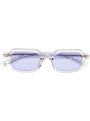 Солнцезащитные очки Navarre в квадратной оправе Garrett Leight. Цвет: серый