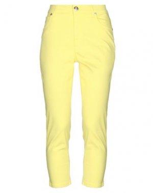 Брюки-капри MARANI JEANS. Цвет: желтый