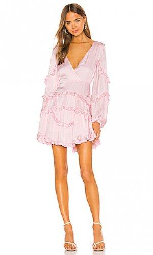 Мини платье nala Bardot. Цвет: розовый