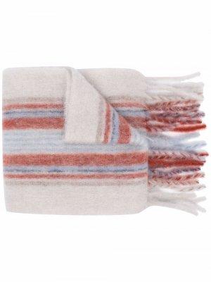 Check print fringed scarf Acne Studios. Цвет: серый