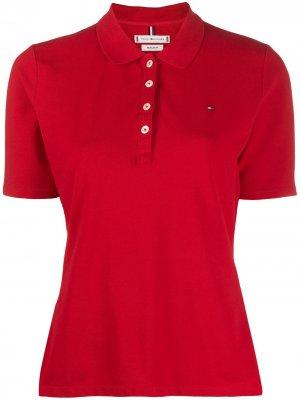 Рубашка поло с вышитым логотипом Tommy Hilfiger. Цвет: красный