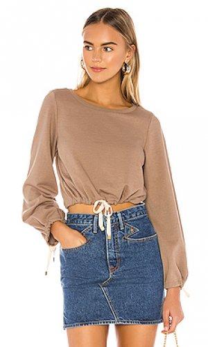 Пуловер willow Tularosa. Цвет: серо-коричневый