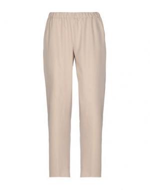 Повседневные брюки LABORATORIO. Цвет: песочный