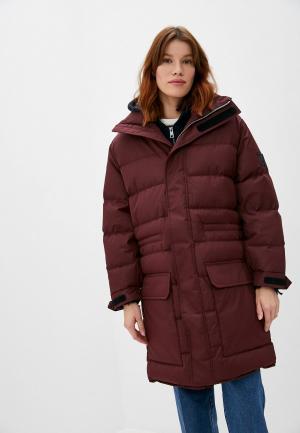 Куртка утепленная Zadig & Voltaire KADOU NYLON. Цвет: бордовый