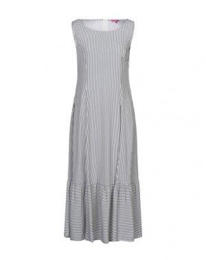 Длинное платье ÉCLÀ. Цвет: стальной серый