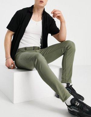Зауженные джинсы цвета хаки Intelligence-Зеленый цвет Jack & Jones