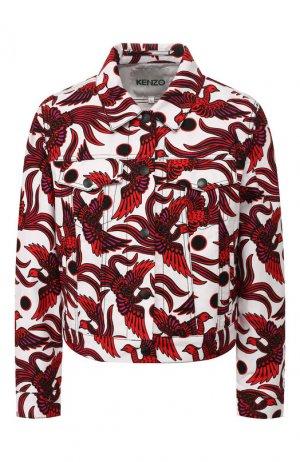 Джинсовая куртка Kenzo. Цвет: красный