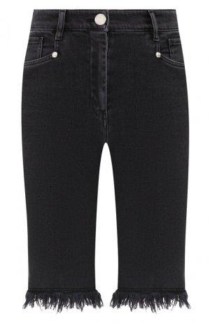 Джинсовые шорты Balmain. Цвет: черный
