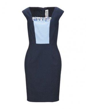 Короткое платье 22 MAGGIO by MARIA GRAZIA SEVERI. Цвет: темно-синий