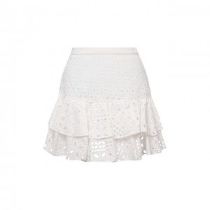 Хлопковая юбка Charo Ruiz Ibiza. Цвет: белый
