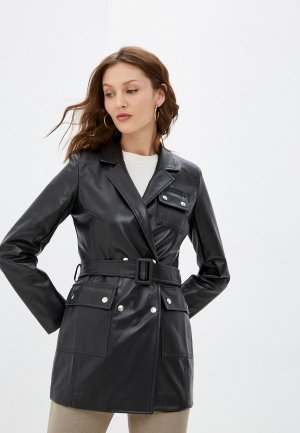 Куртка кожаная Julswan. Цвет: черный