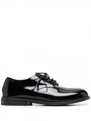 Броги на шнуровке с закругленным носком Marsèll. Цвет: черный