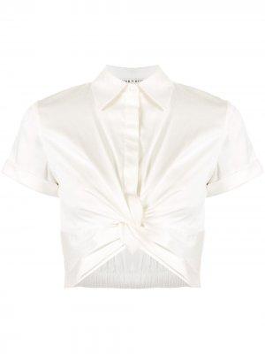 Рубашка Phebe с узлом Alice+Olivia. Цвет: белый