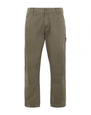 Джинсовые брюки DICKIES. Цвет: зеленый-милитари