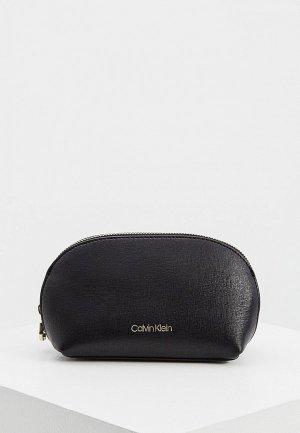 Косметичка Calvin Klein. Цвет: черный