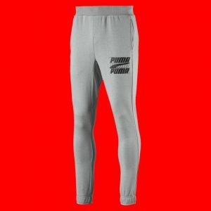 Штаны Rebel Bold Pants PUMA. Цвет: серый