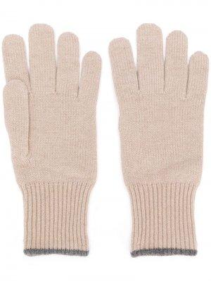 Кашемировые перчатки Brunello Cucinelli. Цвет: нейтральные цвета