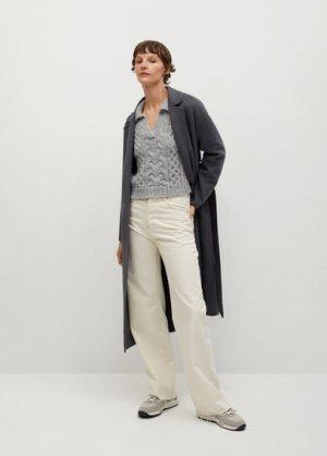 Джемпер в стиле поло - Heidi Mango. Цвет: серый