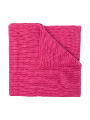 Ribbed-knit logo patch scarf MSGM Kids. Цвет: розовый