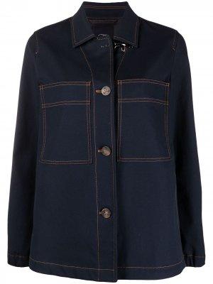 Джинсовая куртка с карманами Fay. Цвет: синий