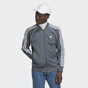 Олимпийка Adicolor Classics Primeblue SST Originals adidas. Цвет: серый