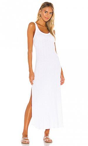 Платье миди west vitamin A. Цвет: белый