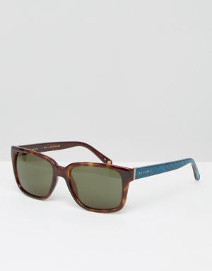 Квадратные солнцезащитные очки Ted Baker. Цвет: коричневый