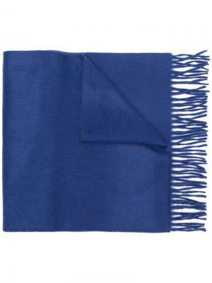 Шарф с бахромой Begg & Co. Цвет: синий
