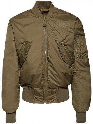 Куртка-бомбер из коллаборации с Parley adidas. Цвет: зеленый