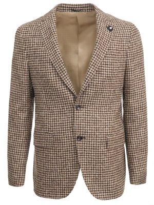 Пиджак из шерсти альпаки LARDINI