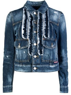 Джинсовая куртка DSQUARED2. Цвет: разноцветный