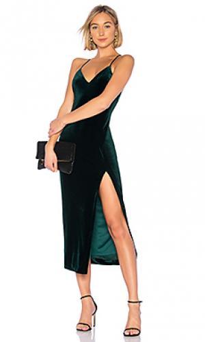 Платье raven Bardot. Цвет: темно-зеленый